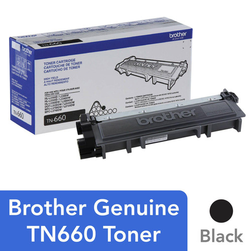 Brother TN660 High Yield Toner, Black - Save $5 with purchase of Member's Mark Multipurpose Copy Paper Case - *Special Order