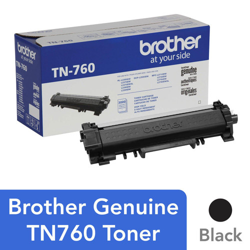 Brother TN760 High-Yield Toner, Black - Save $5 with purchase of Member's Mark Multipurpose Copy Paper Case - *Special Order
