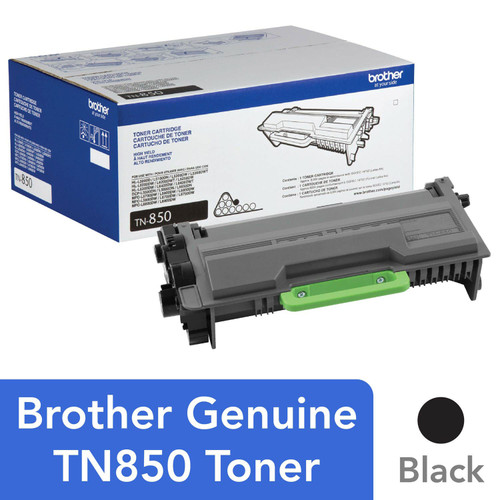 Brother TN850 High-Yield Toner, Black - Save $10 with purchase of Member's Mark Multipurpose Bright Copy Paper Case - *Special Order