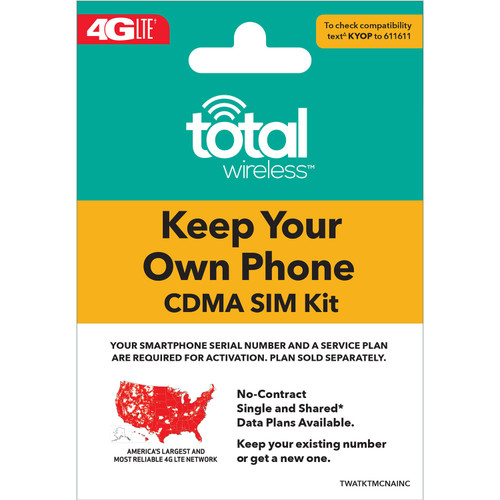Total Wireless Keep Your Own Phone Sim Kit - *Special Order