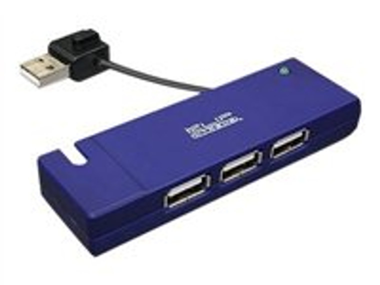 The sleek KUH-400 4-port 2.0 hub features a USB interface with data transfer rates of up to 480 Mbps, which allows you to add multiple high performance peripheral devices you your PC. Its compact size along with its fully Plug-and-Play capability makes it perfect for hooking up useful devices like printers, digital cameras, MP3 players and much more!