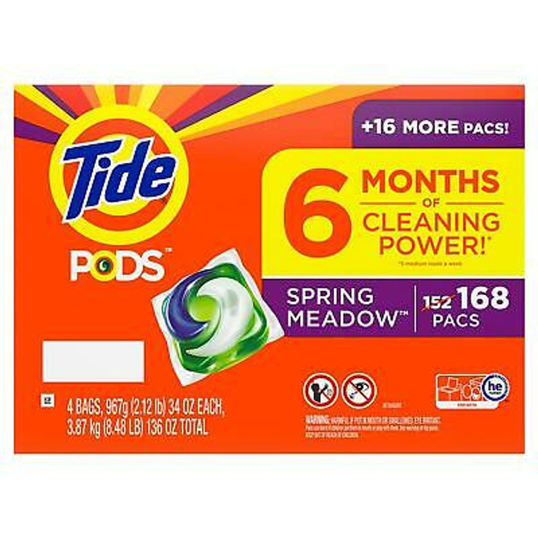 TIDE PODS 168CT SPRING MEADOW DETERGENT