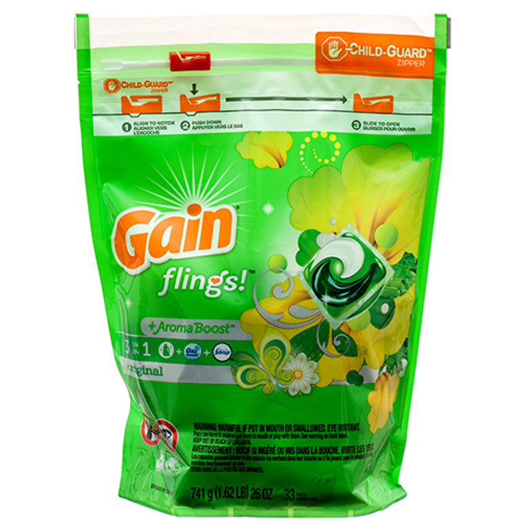 GAIN 33CT FLINGS + AROMA BOOST LAUNDRY DETERGENT