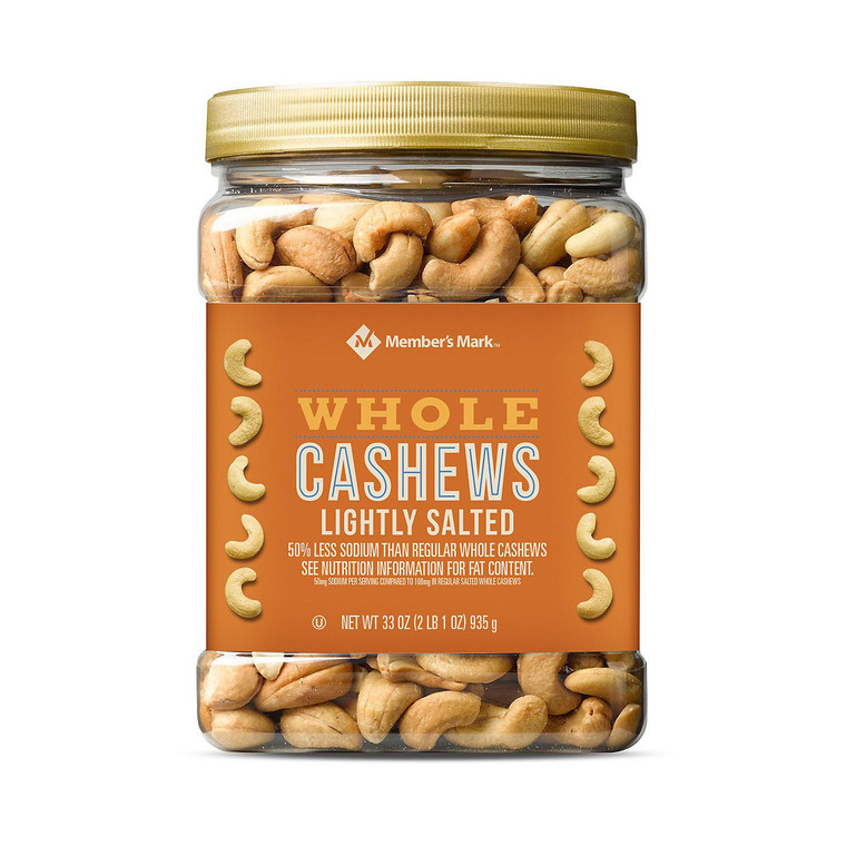 Member's Mark Lightly Salted Whole Cashews
