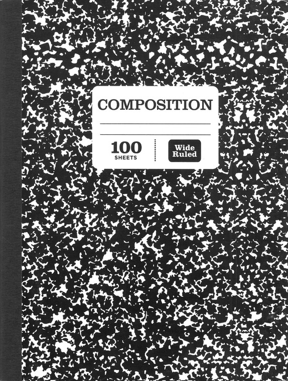 """Pen + Gear Composition Book, Wide Ruled, 100 Pages, 9.75"""" x 7.5"""""""