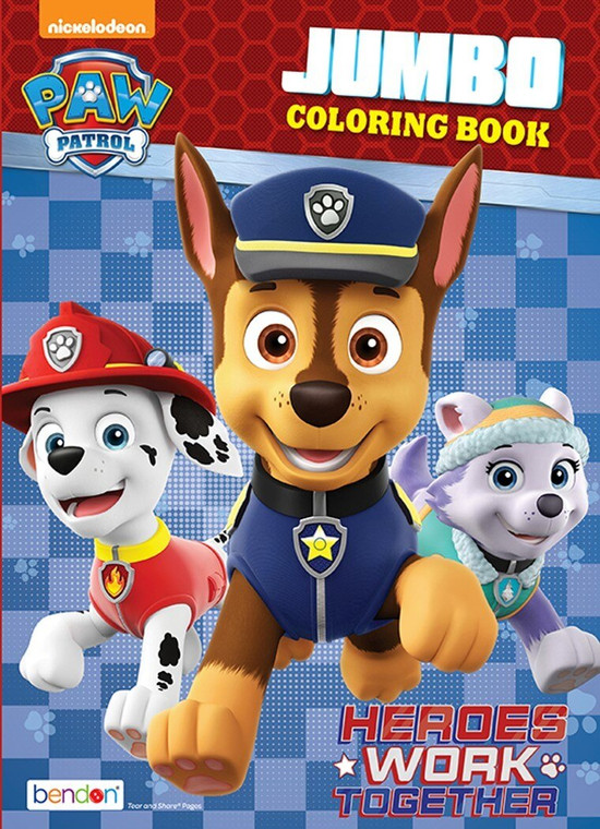 Bendon Publishing Paw Patrol Jumbo Coloring Book  - *Available in Roseau Store*