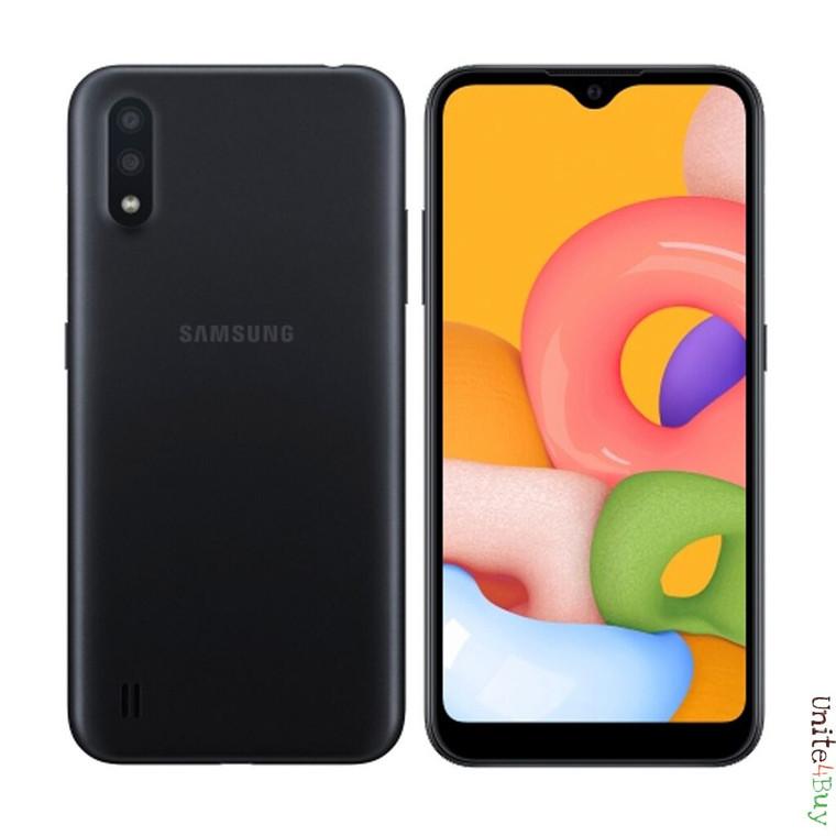 Samsung Galaxy A01 (32GB, 2GB RAM) , 13MP Camera Dual SIM GSM Factory Unlocked , Global 4G LTE - *OnLine Only*