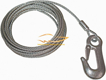 Winch Cable 5mm Dia w Snap Hook