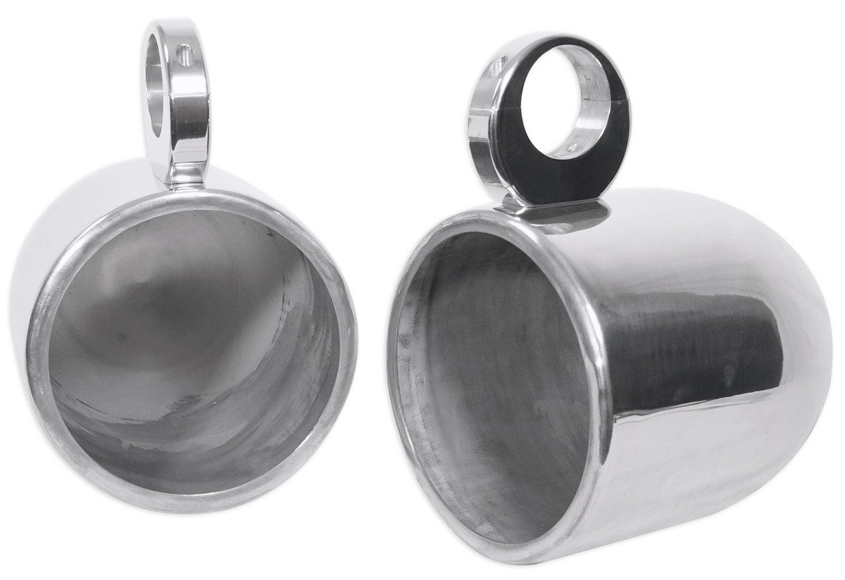 """2 8/"""" White Wakeboard Tower Enclosure Pods for Wet Sounds XS-808 Marine Speakers"""