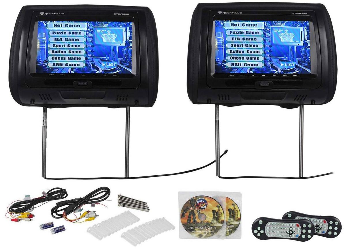 Tremendous Rockville Rtsvd961 Bk 9 Black Touchscreen Dual Dvd Hdmi Car Wiring Cloud Pendufoxcilixyz