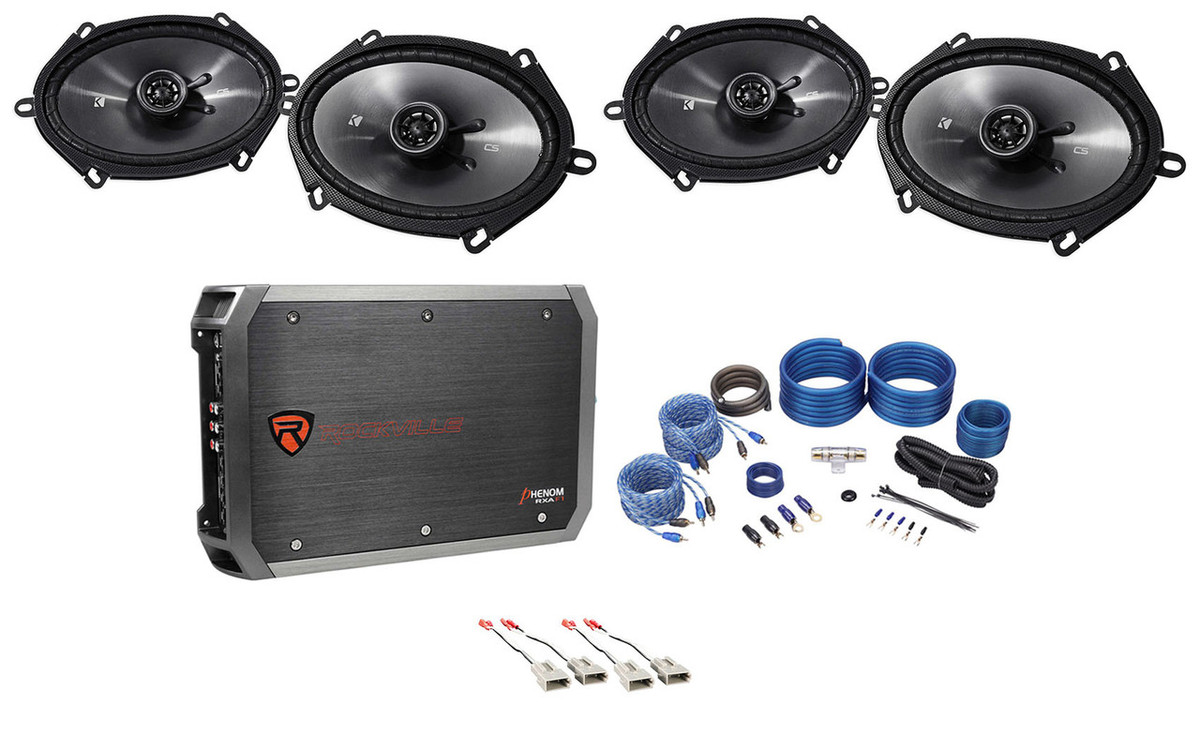 """Kicker 43CSC684 Series 6x8/"""" 2-Way 225 Watts Car Speakers Only Free Fast Shipping"""