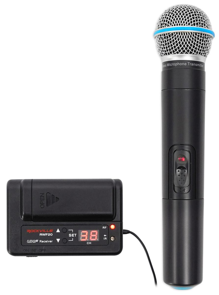 Rockville RWM50U UHF Handheld Wireless Microphone Mic For Church Sound Systems