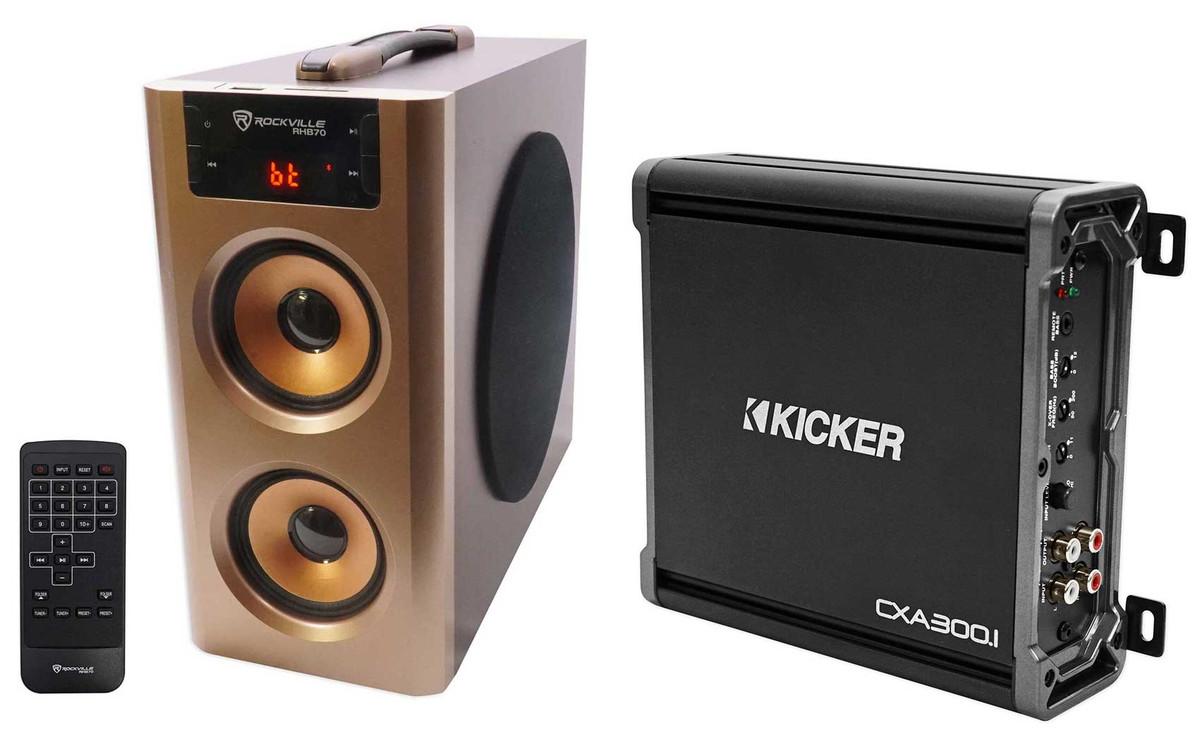 Kicker 43CXA3001 CXA300 1 300 Watt RMS Mono Class D Amplifier Amp + Free  Speaker