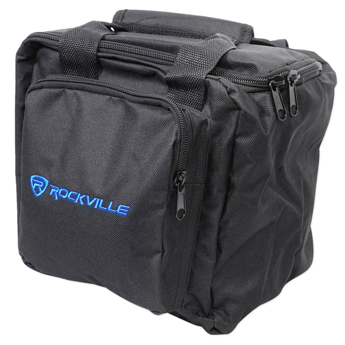 Rockville RLBP8 Padded BackPack For 8 Par Lights Bag with Dividers+Handle+Straps