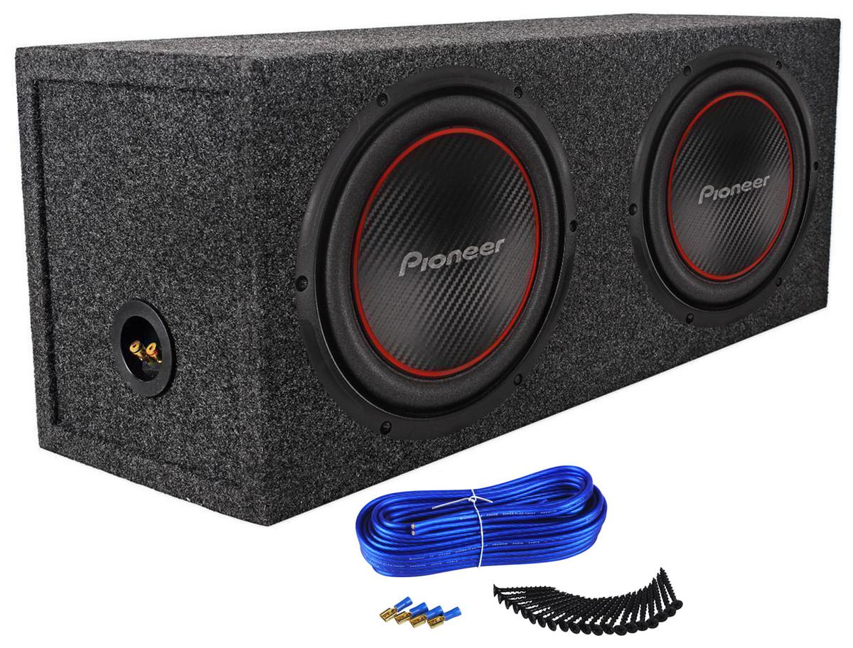 "2) Pioneer TS-W254R 10"" 2200 Watt Car Audio Subwoofers+Sealed Sub Box  Enclosure"