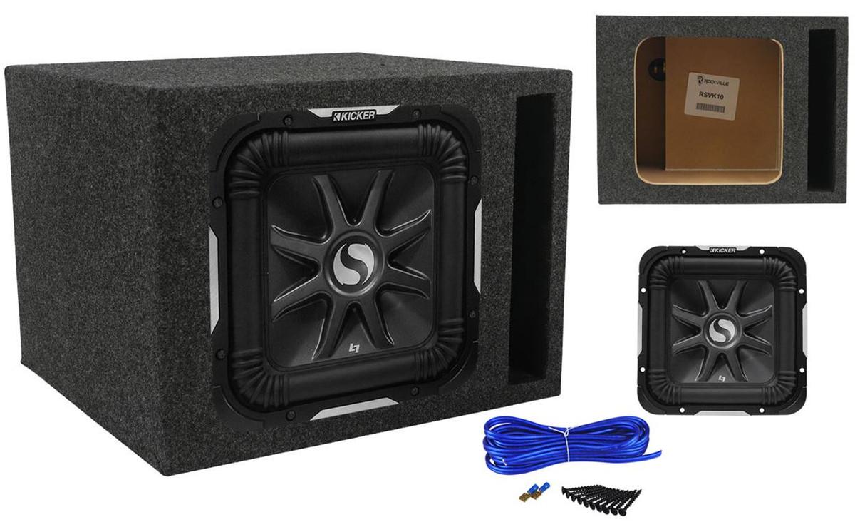 Kicker 44L7S102 Car Audio Solobaric 10 Subwoofer Square L7 Dual 2 Ohm Sub Pair Renewed