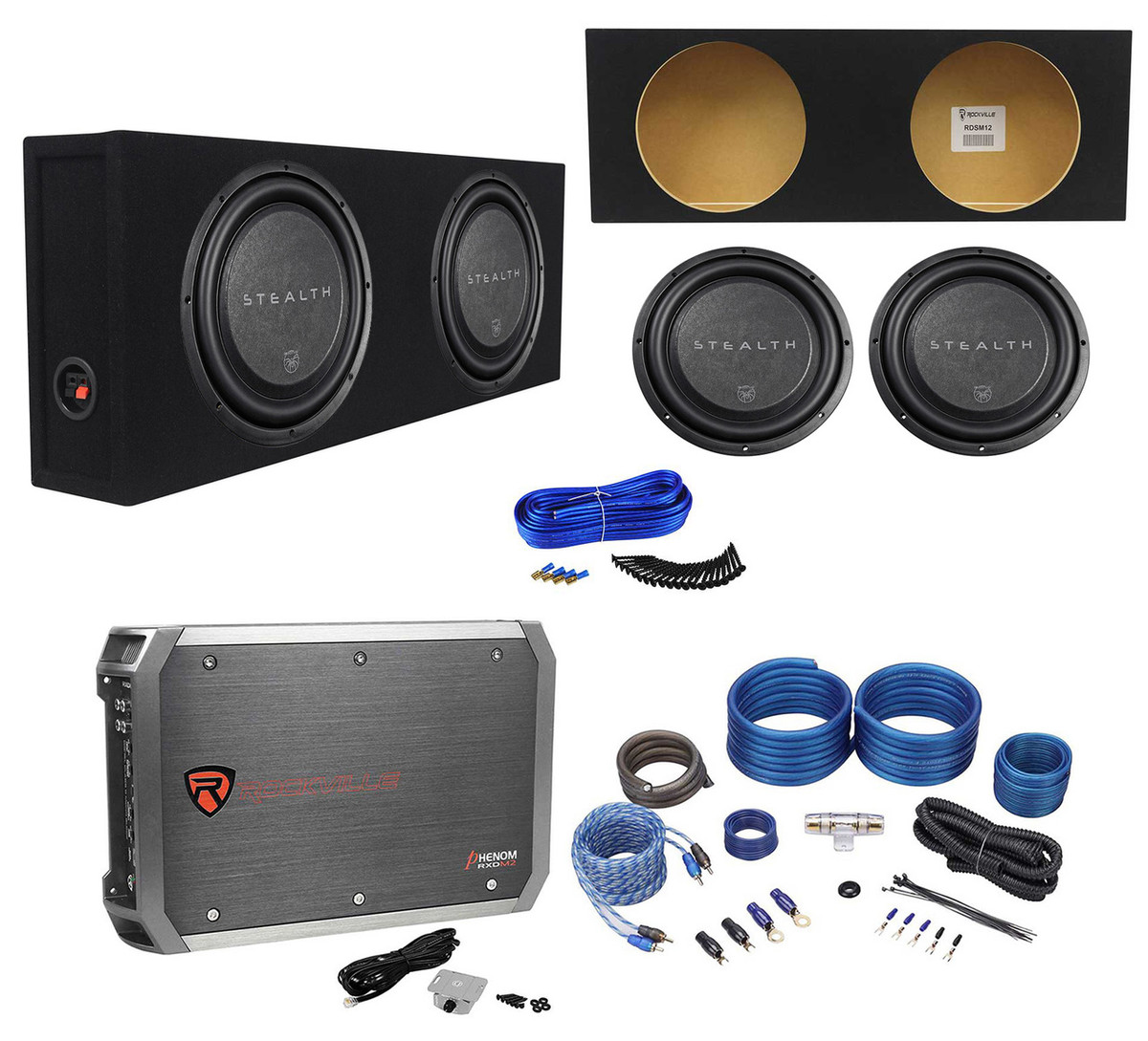 (2) soundstream stealth 124 12\