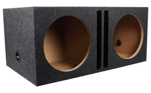 FibroPRO Triple 10 Sealed Subwoofer Speaker Box Enclosure with Fiberglass Face Plate Red