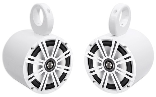 2 EasyMount Soundbar//Roll bar Speakers 8 600 W Waterproof for Jeep Wrangler