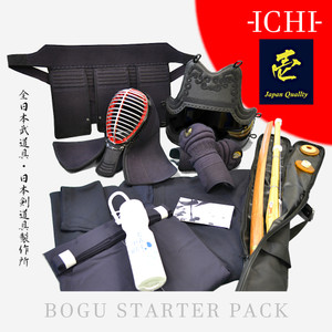 Hakama Keikogi Shinai + Tsuba Bokken + Tsuba Shinai Bag Sports bottle Bogu set 6mm Tenugui Men/ Do Himo Chichikawa