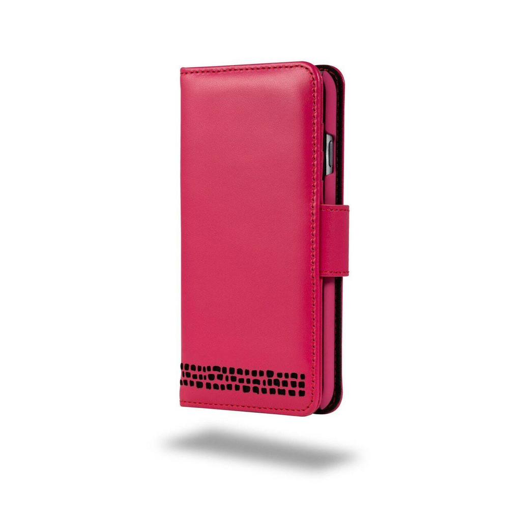Ed Hicks Apple iPhone 6 6S Real Leather Wallet With Card Holder Magnetic Phone Case in Pink