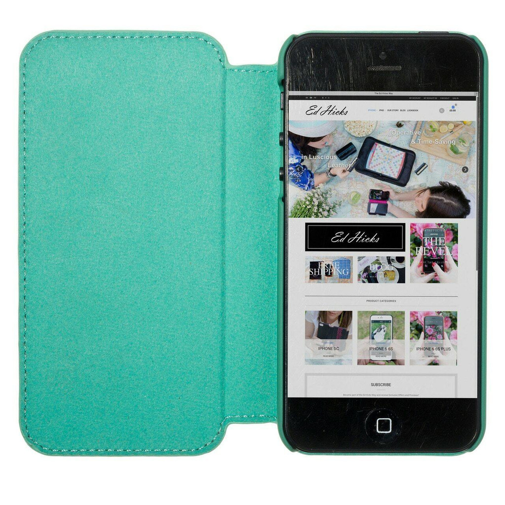 iPhone 7 Real Leather Ultra Slim Magnetic Flip Phone Case