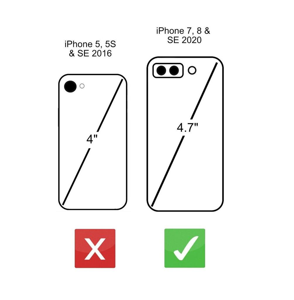 iPhone SE 2020 2nd Gen size comparison