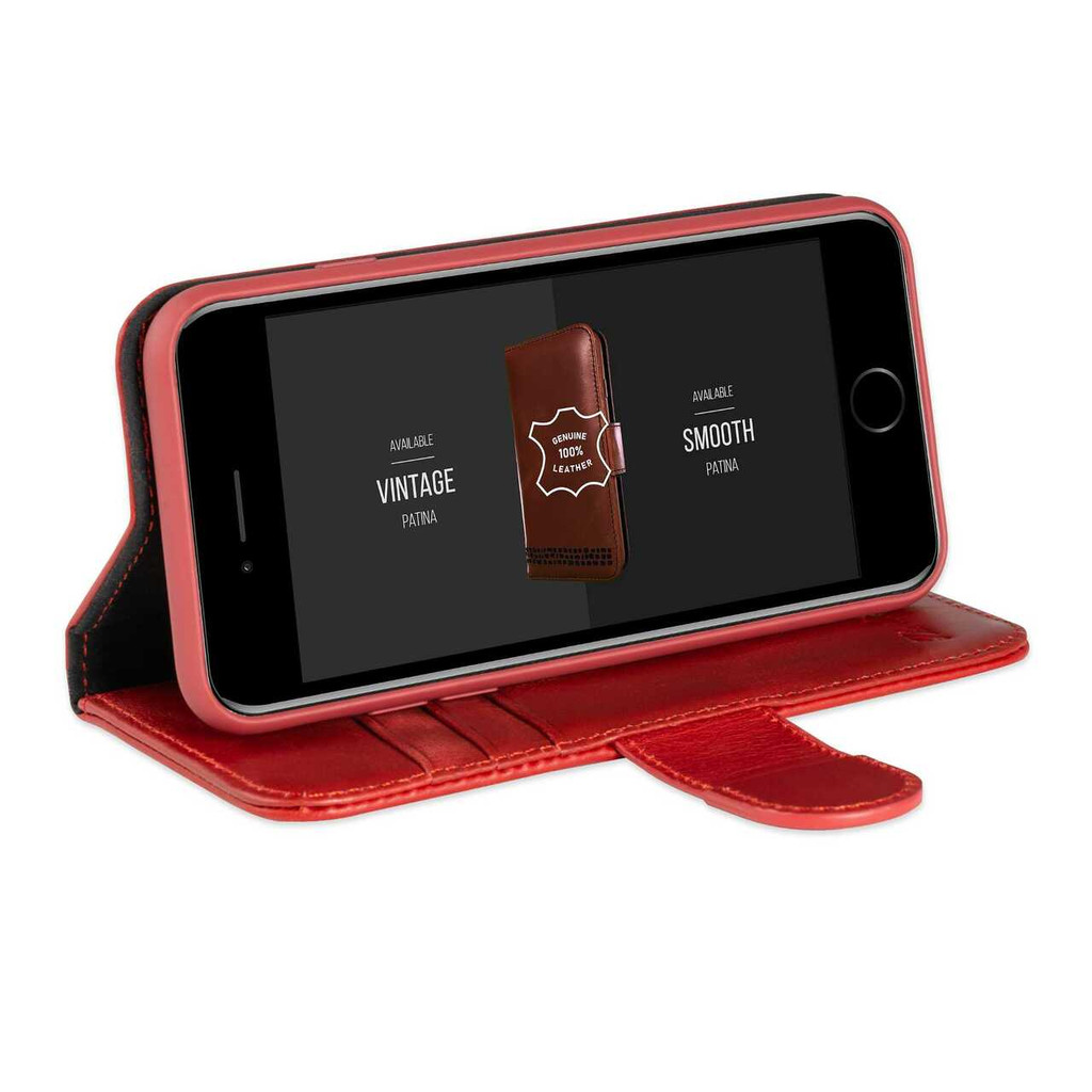 iPhone 7 Leather Flip Phone Case with Kickstand