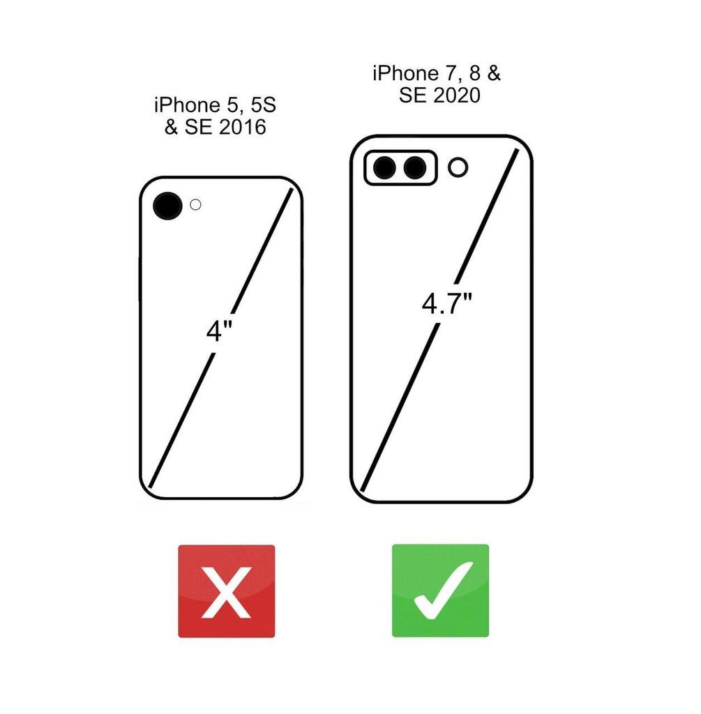 iPhone 7 size comparison