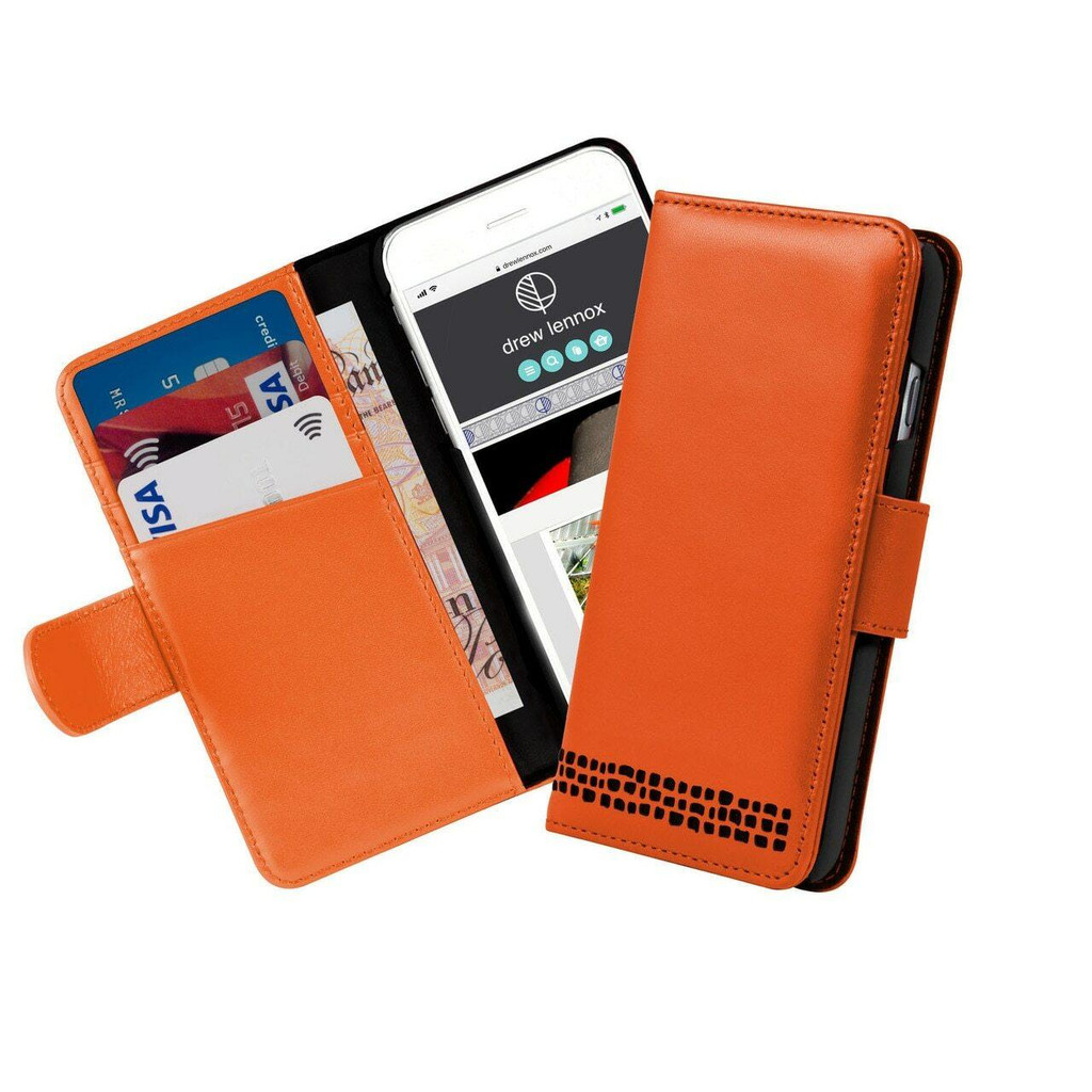 iPhone 8 Real Leather Wallet cardholder Case