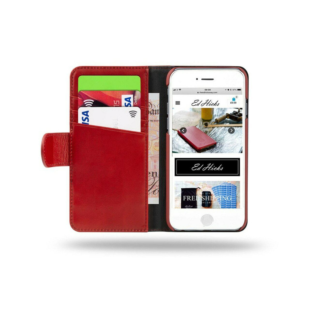 iPhone 12 Mini Real Leather Wallet Phone Case