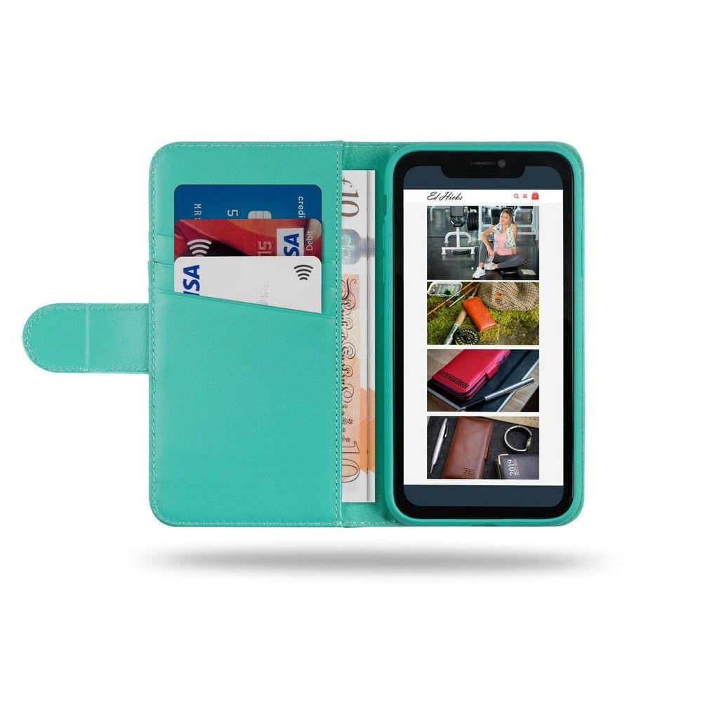 iPhone 12 Mini Open Wallet Phone Case in Blue