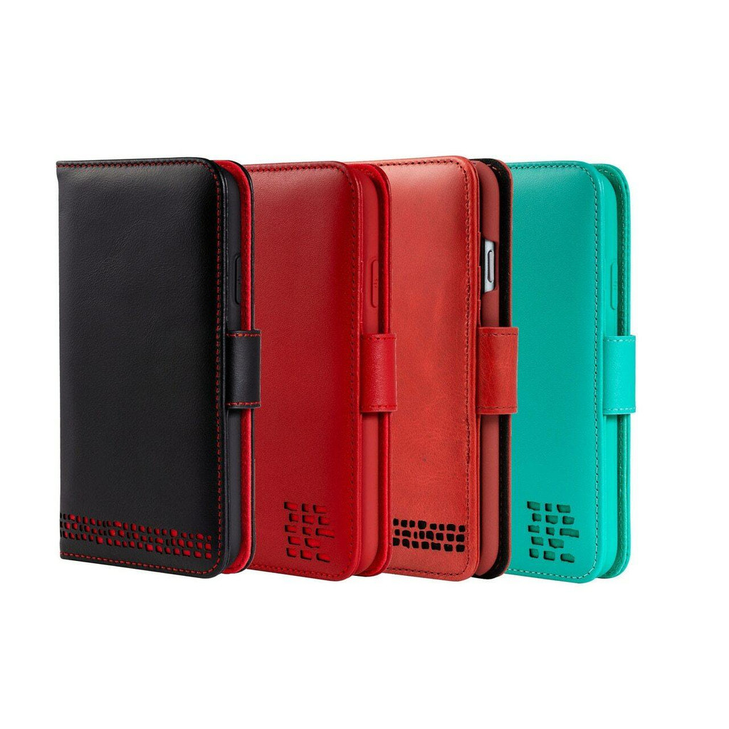 iPhone 12 Pro real Leather Wallet Phone Case