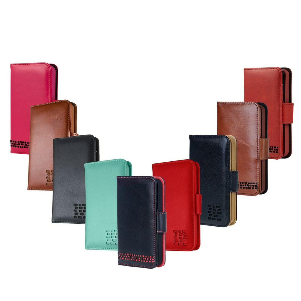 Personalised Initials on Premium Leather iPhone SE 2020 Wallet Case