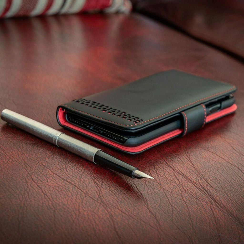 iPhone 12 real Leather Magnetic Flip Phone Case