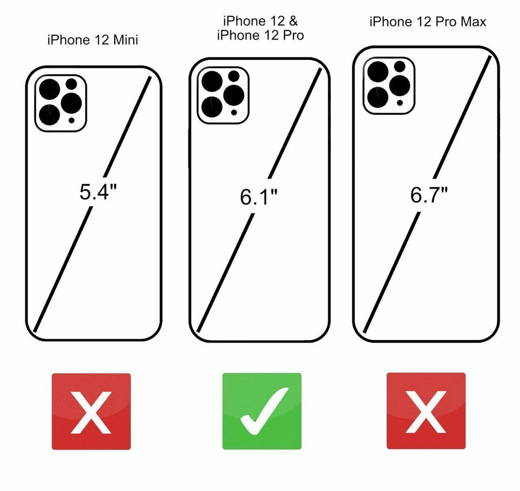 iPhone 12 Size Comparison UK