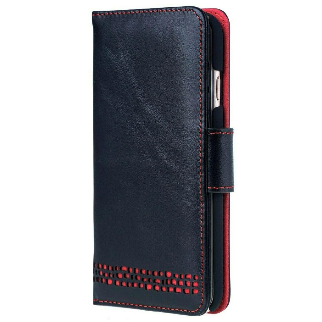 iPhone 8  Plus Leather Wallet Phone Case in Black