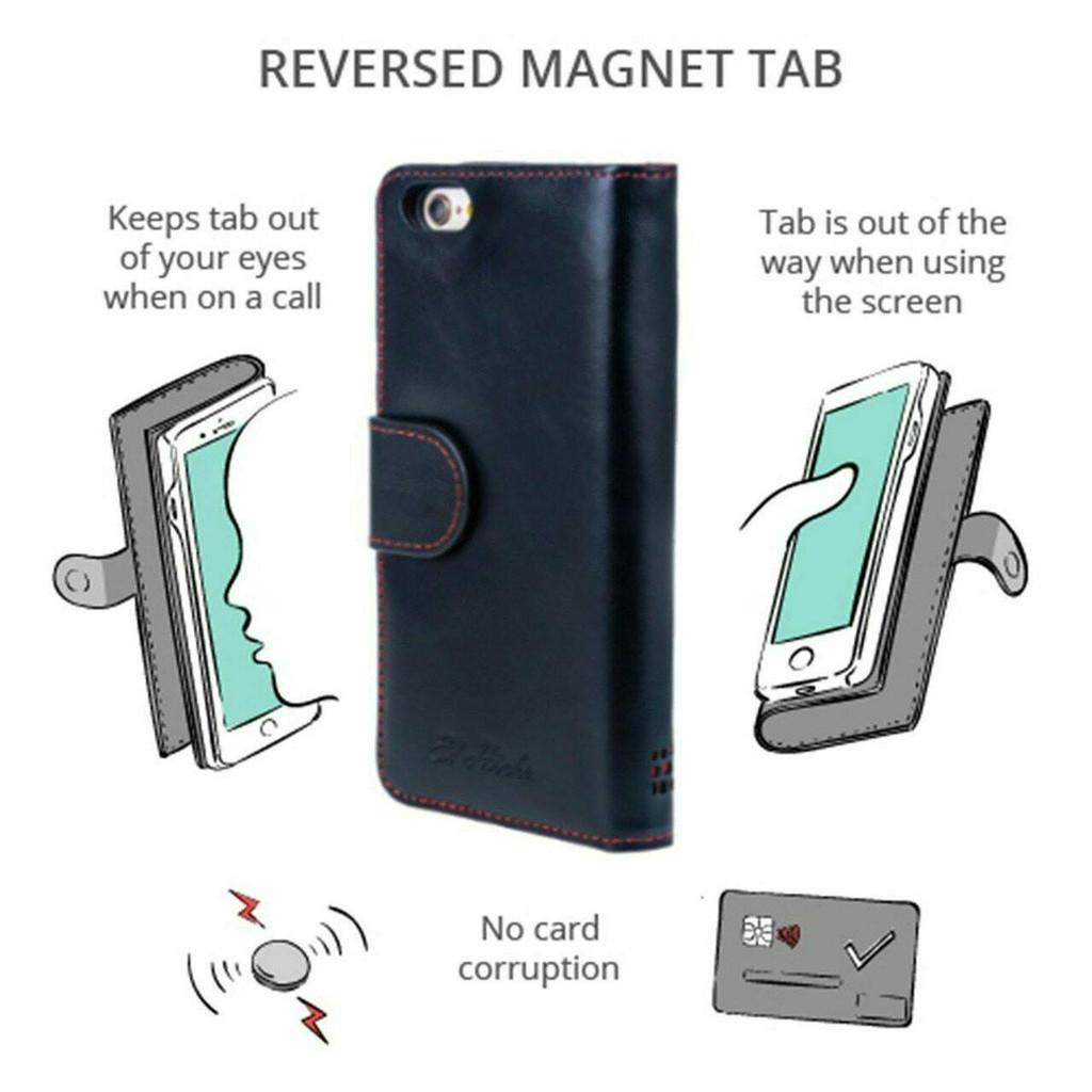 iPhone 8 Plus Leather Flip Phone Case