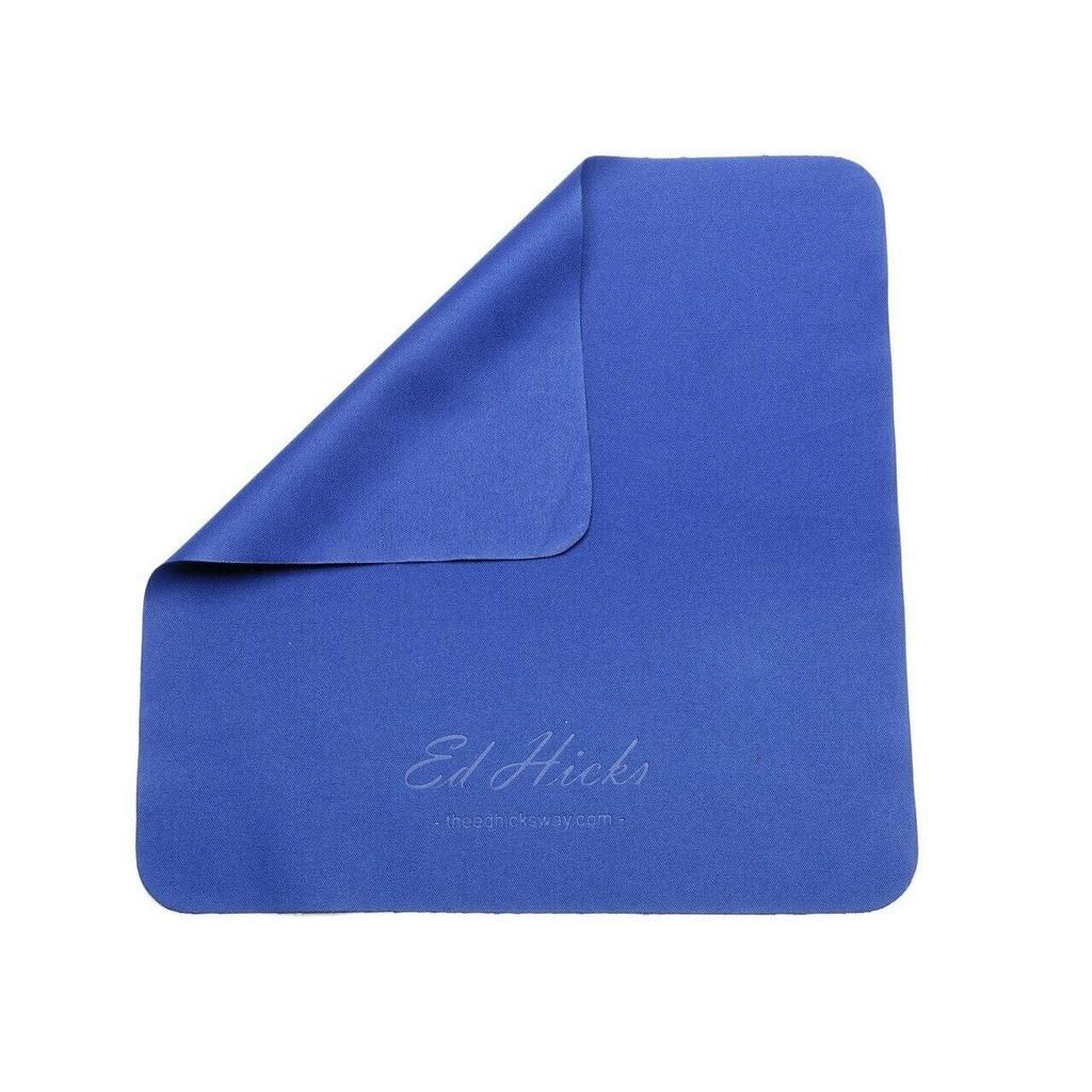8* Premium Microfibre Glasses Cleaning Cloths - 12 x 12cm - Storage Pouch