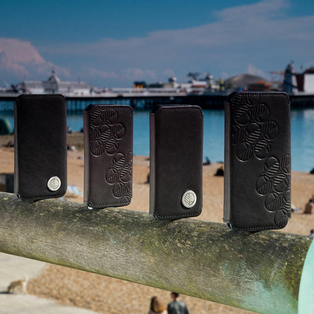 iPhone 7 All Leather Black Folio Phone Case