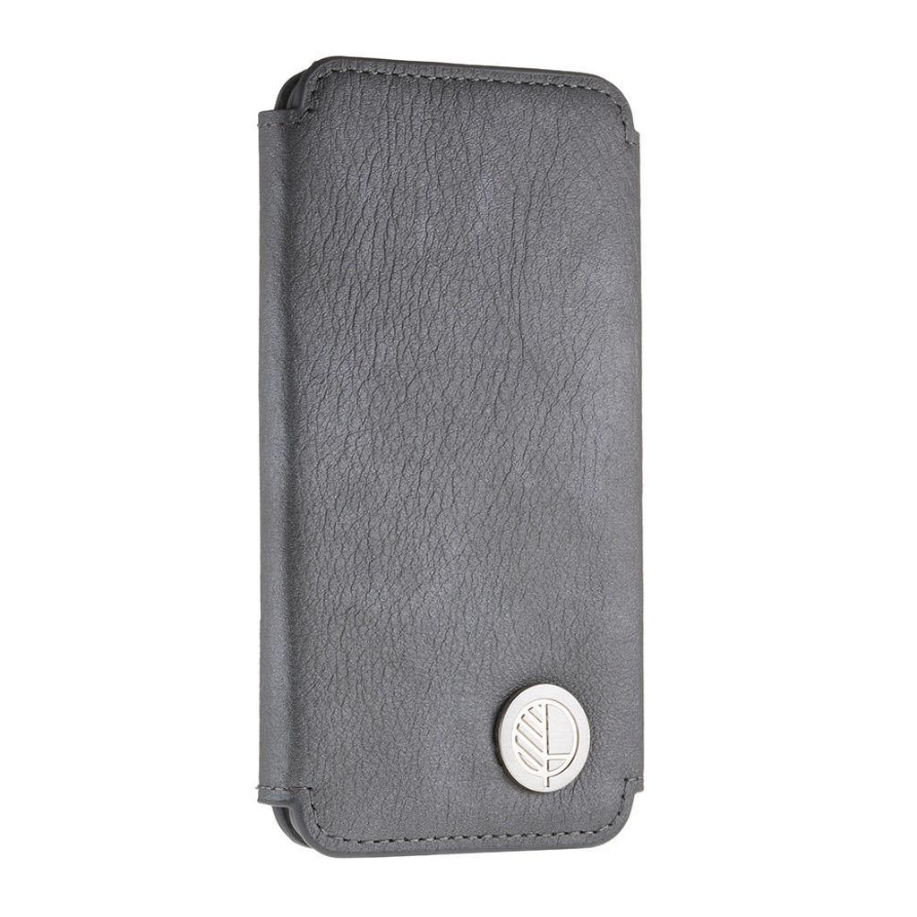 iPhone 7 All Leather Grey Folio Phone Case