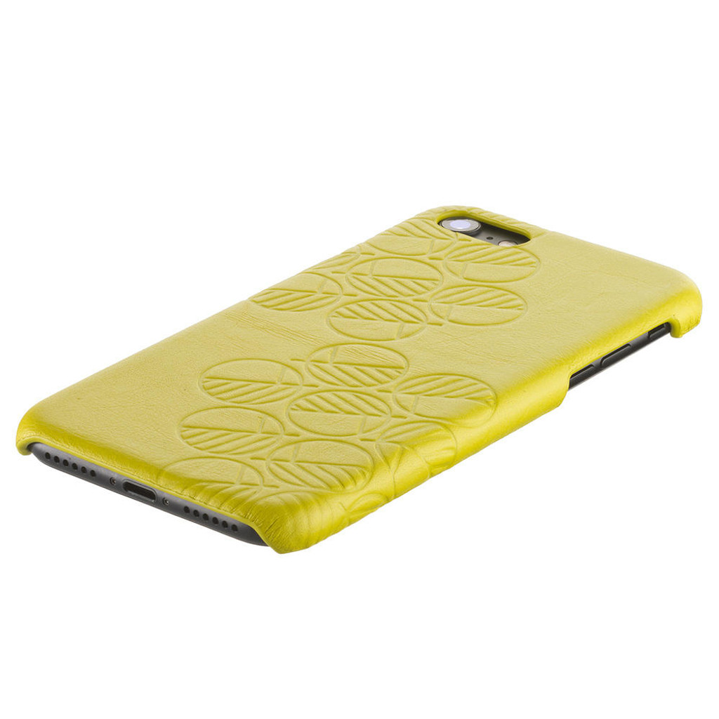 Apple-iPhone-7-Real-yellow-leather-back-cover-case-3
