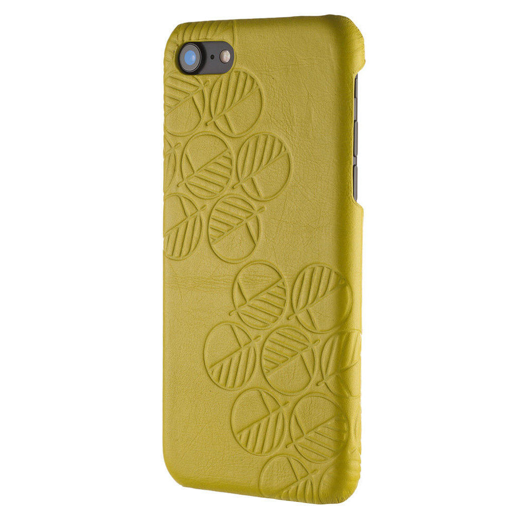 Apple-iPhone-7-Real-yellow-leather-back-cover-case