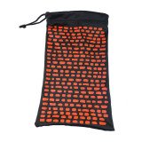 Soft Glasses Cases, Storage Pouches & Microfibre Cleaning Cloth All-in-1 - Red and Black