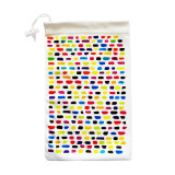 Soft Glasses Cases, Storage Pouches & Microfibre Cleaning Cloth All-in-1 - Rainbow on White
