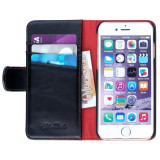 Ed Hicks Apple iPhone 6 6S Real Leather Wallet With Card Holder Magnetic Tab Phone Case