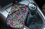 iPhone SE 2020 Wallet Case - Premium Genuine Leather - Orange and Black