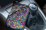 Microfibre bag black rainbow