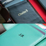 iPhone XR Leather Wallet Personalised Initials