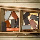 iPhone 7 All Leather Black Embossed Folio Phone Case